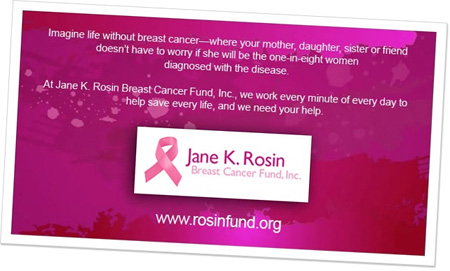 Sample of Donation E-Card Insert